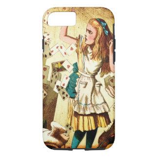 Alice im Wunderland mit Spielkarten iPhone 8/7 Hülle