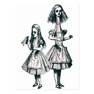 Alice im Wunderland Postkarte
