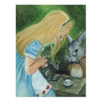 Alice im Wunderland-Postkarte Postkarte
