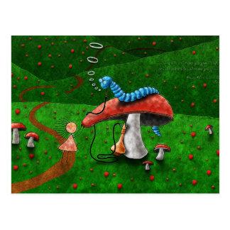 Alice im Wunderland - Rat von einer Raupe Postkarte