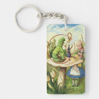 Alice im Wunderland-Raupe trinken mich Keychain Schlüsselanhänger