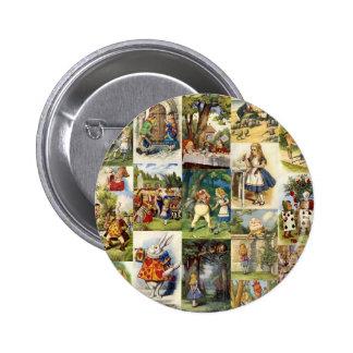 Alice im Wunderland Runder Button 5,1 Cm
