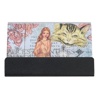 Alice im Wunderland Schreibtisch-Visitenkartenhalter