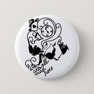 Alice im Wunderland. Silhouetteillustration Runder Button 5,7 Cm