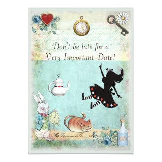 Alice im Wunderland sind nicht spätes Brautparty 12,7 X 17,8 Cm Einladungskarte