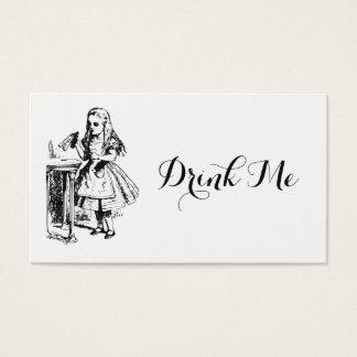 Alice im Wunderland trinken mich Visitenkarte