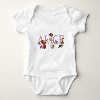 Alice im Wunderland und Freunde Baby Strampler