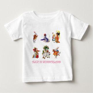 Alice im Wunderland und ihre Freunde Baby T-shirt