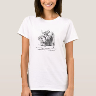 Alice im Wunderland-Vintager Illustrations-T - T-Shirt
