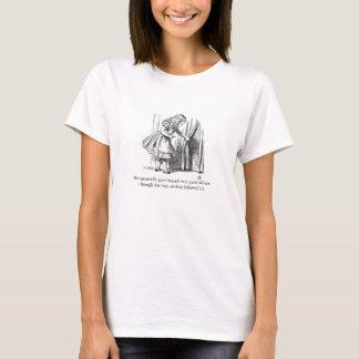 Alice im Wunderland-Vintager Illustrations-T - T-Shirt