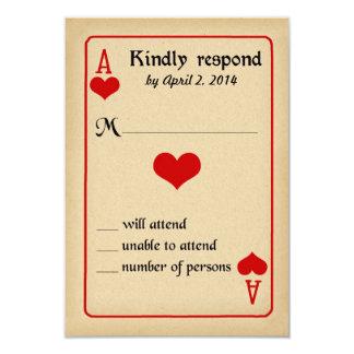 Alice im Wunderland-Wartekarte - Hochzeit 8,9 X 12,7 Cm Einladungskarte