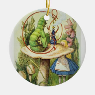 Alice im Wunderland-Weihnachtsverzierung 2017 Keramik Ornament