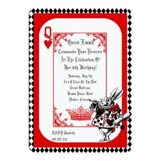 Alice im Wunderland-weiße Kaninchen-Party 12,7 X 17,8 Cm Einladungskarte