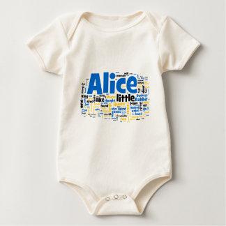 Alice im Wunderland-Wort-Kunst Baby Strampler