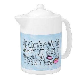 Alice im Wunderland-wunderliches Tee-Carroll-Zitat