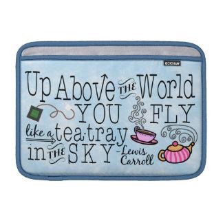 Alice im Wunderland-wunderliches Tee-Carroll-Zitat MacBook Air Sleeve