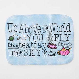 Alice im Wunderland-wunderliches Tee-Carroll-Zitat Spucktuch