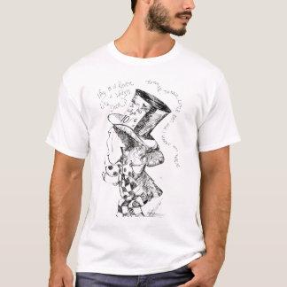 Alice im Wunderland: Wütende Hutmacher-Skizze T-Shirt