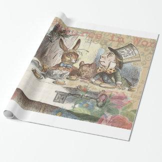 Alice im Wunderland-wütendes Tee-Party Geschenkpapier