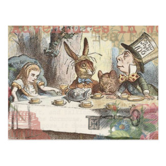 Alice im Wunderland-wütendes Tee-Party Postkarte