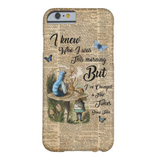 Alice im Wunderland-Zitat-Vintage Wörterbuch-Kunst Barely There iPhone 6 Hülle