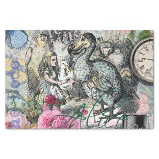 Alice im Wunderlanddodo-Vintage hübsche Collage Seidenpapier