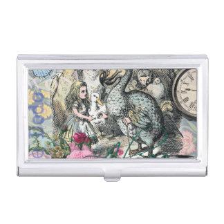 Alice im Wunderlanddodo-Vogel-Collage Visitenkarten Etui