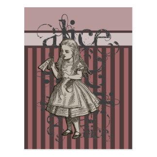 Alice im WunderlandGrunge Rosa Postkarten
