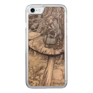 Alice im Wunderlandhookah-rauchende Raupe Carved iPhone 8/7 Hülle