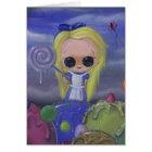 Alice in der candyland Grußkarte