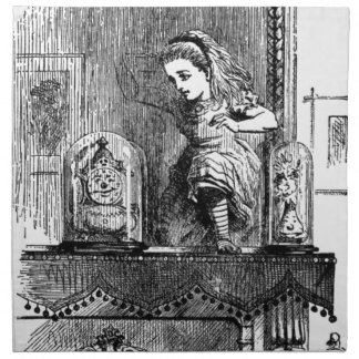 Alice in einem Spiegel Stoffserviette