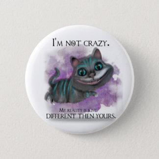 Alice in Wonderland button. Runder Button 5,1 Cm