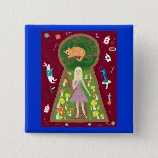 Alice (Märchen-Mode-Reihe #4) Quadratischer Button 5,1 Cm