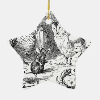Alice, Maus und Vögel Keramik Ornament