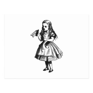 """Alice mit """"Getränk ich"""" Flasche Postkarte"""