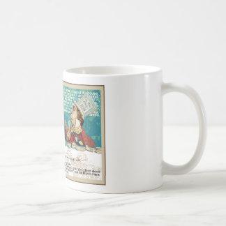 Alice mit wütenden Hutmacher-und März-Hasen Kaffeetasse