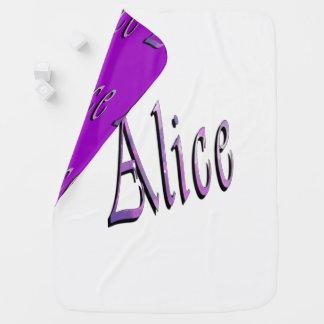 Alice, Name, Logo, umschaltbare Baby-Decke Kinderwagendecke