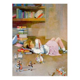 Alice nimmt eine Reise nach Märchenland Postkarte