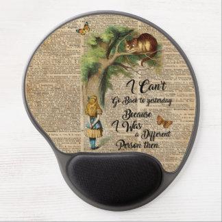 Alice- und Cheshire-Katzen-Zitat-Wörterbuch-Kunst Gel Mousepad