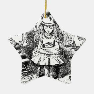Alice und das Queens Keramik Ornament