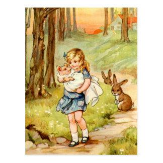 Alice und das Schwein-Baby im Märchenland Postkarte