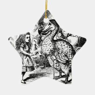 Alice und der Dodo Keramik Ornament