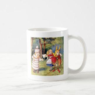 Alice und der weiße König im Märchenland Kaffeetasse