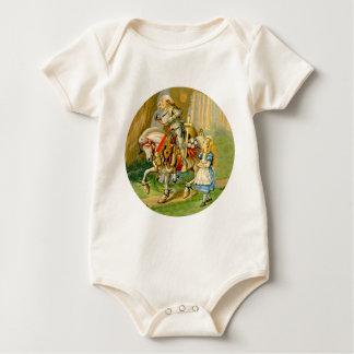 Alice und der weiße Ritter im Märchenland Baby Strampler