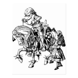 Alice und der weiße Ritter Postkarte