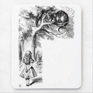Alice und die Cheshire-Katze Mousepad