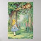 Alice und die Cheshire-Katze Poster