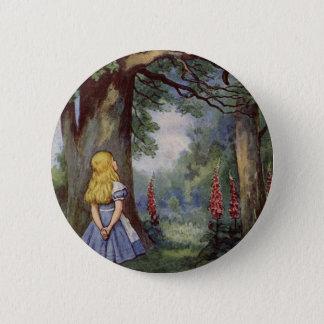Alice und die Cheshire-Katze Runder Button 5,1 Cm