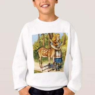 Alice und die jungen Rotwild im Märchenland Sweatshirt