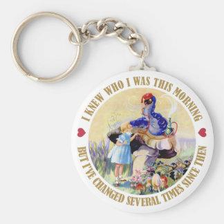 Alice und die Raupe im Märchenland Schlüsselanhänger